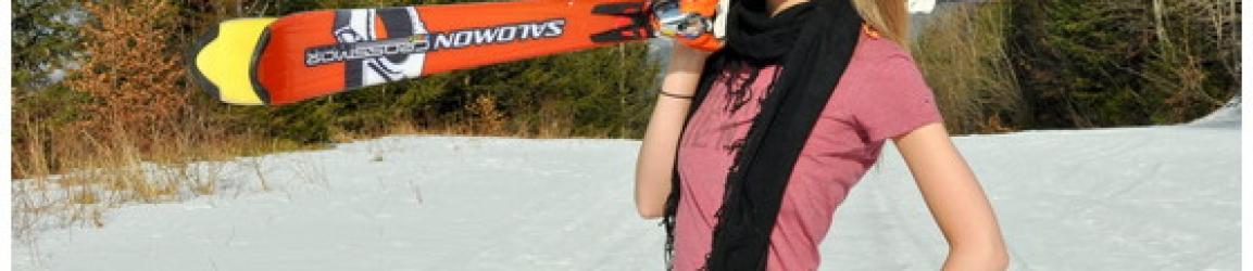 Karolina – sesja portretowa na nartach