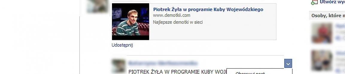 Bałagan na facebookowej ścianie