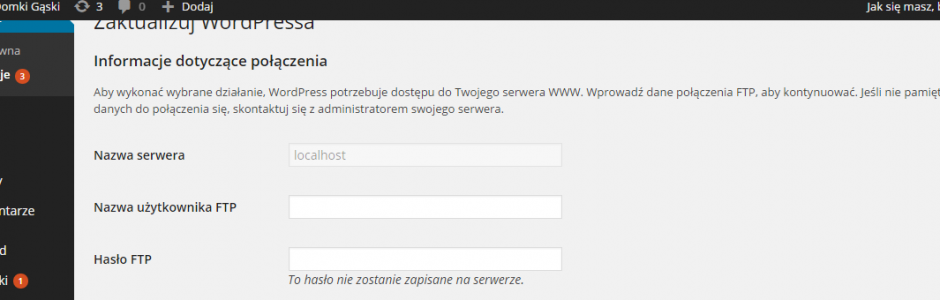 [WordPress] Monit o dane logowania do FTP FTP(S)